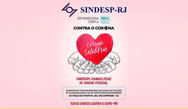 SindespRJ na luta contra o coronavírus.