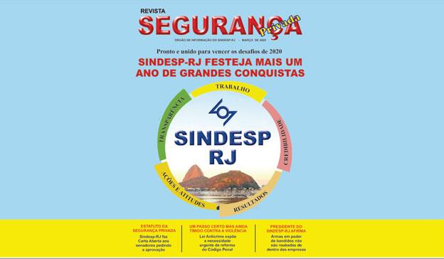 Chegou a revista de março da Sindesp-RJ
